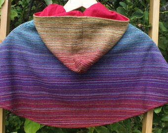 Handwoven Hooded Cape size 5