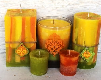 Recycled Wax Citrus Candle Set