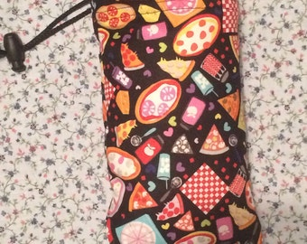 Pizza Munchies Padded Pipe Bag/ Sunglasses Case / Ipod case!! HANDMADE in USA