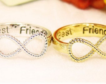 Infinity Best Friends Ring Size US 6