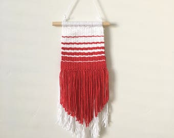 Red Ombre Woven Wall Hanging