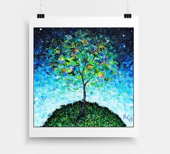 Abstract Tree Decor - Modern Landscape Decor - Modern Tree Wall Art - Contemporary Tree Decor - Contemporary Tree Art - Tree Print