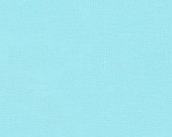 Azure - Kona Cotton - Robert Kaufman 100% solid cotton quilt weight fabric Fat Quarters quilting dressmaking UK Shop K001-1009