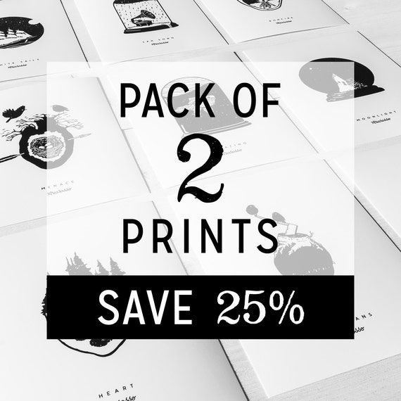 Pack of 2 Prints Posters - Worldwide Free Shipping...