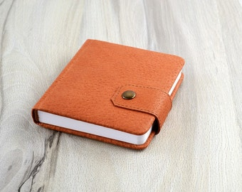 Leather notebook Gift to him Address book Brown leather journal Password notebook Small journal Blank notebook Pocket notebook handmade book