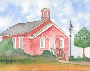 School House Watercolor