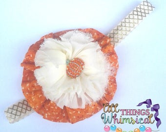 Gorgeous Harvest Time Pumpkin Patch Headband
