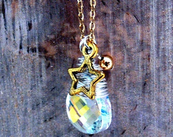 Crystal wrapped pendant
