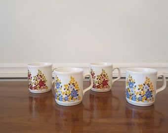 Vintage Cartwright of England Staffordshire Ceramic Mugs