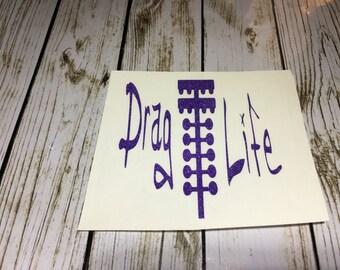 Drag Life Decals / drag life  / Sticker / Adhesive stickers drag life / drag racing  decal / drag life decal / drag racing