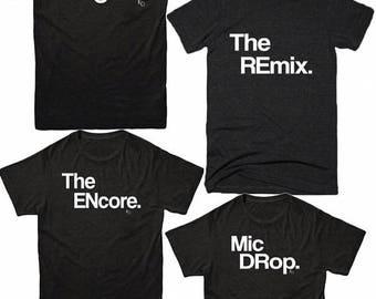 Ropa unisex   Camisas de mujer   El Original   Remix   Camiseta adulto   Juego familia t   Camisas unisex   Regalo para   T   Tapas