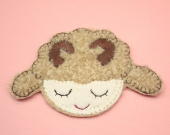 Happy Lamb Patch Applique