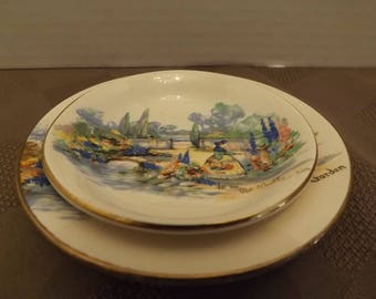 n an Olde English Garden - Sm Plate & Bowl Set (3 Available)