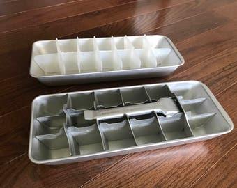 Vintage GE Mini Cube Ice Cube Trays (set of 2)