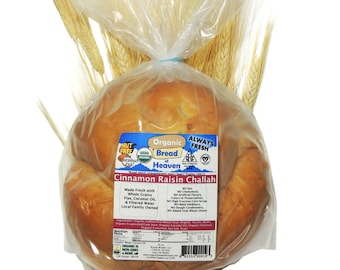 Organic Cinnamon Raisin Challah ~ 20 oz. loaf
