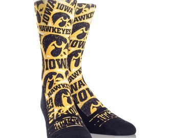 Iowa Hawkeye Socks-SALE