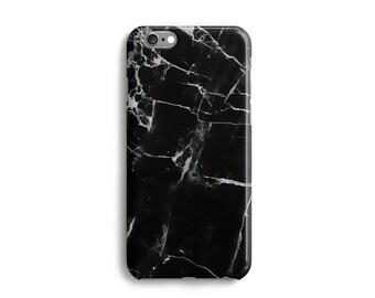 Black Marble Phone Case, iPhone  7, 6, 6s, Plus, SE, 5, 5s, 5c, unique marble design cell phone cover, Samsung, S8, S8 Plus, Google Pixel