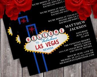 Vegas Style Bachelor/Bachelorette Party Invitation (Design #1)