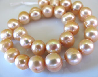 Fresh Water Pearls, 7 and 1/2 inch strand, 27 beads, 7mm, pink pearls, Jewelry sypply B-1484