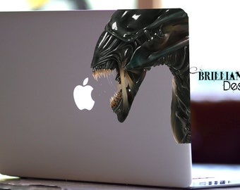 Alien, UFO,Alien Decal,Sticker,Skin,MacBook Pro, Macbook Air,Gift, Geekery, Area51,Roswell Crash, for him,for her