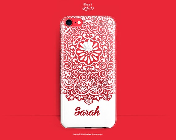 RED iPhone 7 Plus Case RED iPhone 7 Case Clear iPhone 6s Case iPhone 7 Plus Case RED Clear iPhone 7 Case Personalized