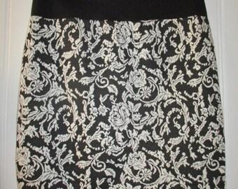 Knit skirt black / creme Gr.M