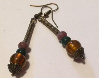 Beaded Trio Dangle Earrings
