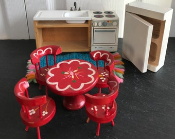Vintage Doll house Kitchen Set