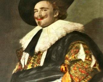 After Frans Hals Laughing Cavalier Original 1904 Color Mezzotint Engraving No...