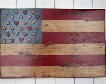 Distressed Americana Flag