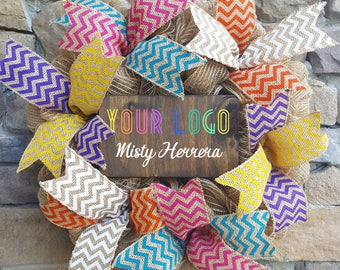 Personalized Consultant Wreath, Personalized Custom Sign,Lularoe Inspired, Boutique Pop up, LLR gift, Wreath Sign, Pop up Display, Lularoe