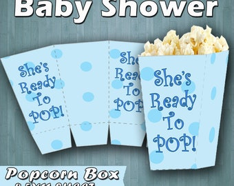 Baby shower, It's a Boy Baby Shower, Baby Shower Popcorn Box, Baby Shower Printable Decorations, It's a Boy Party Favors, It's a Boy