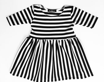 Mixed Stripe Dress - Toddler Dress - Baby Dress - Girls Dress - Toddler Outfit - Baby Outfit - Baby Gift Idea - Toddler Clothes
