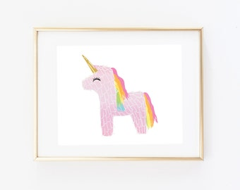 Art Print - Unicorn Piñata