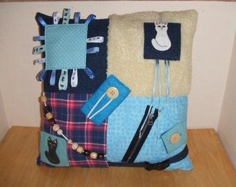 Fiddle Cushion, Handmade Fiddle Cushions, Alzheimers Fidget Pillow, Alzheimers Pillow, Fidget Cushions, Fidget Pillows, Dementia Pillow
