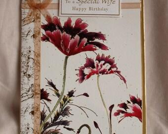 To a Special Wife  Happy Birthday  Birthday Card