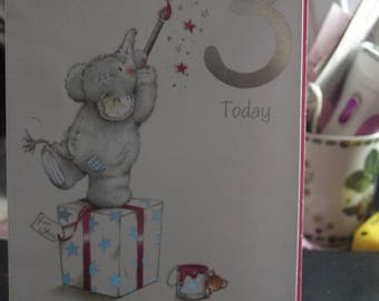 A Special Girl is 3 Today  Birthday Card
