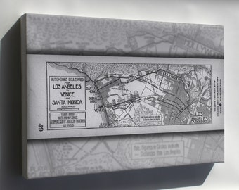 Canvas 24x36; Automobile Boulevards From Los Angeles To Venice And Santa Monica, 1914 (Aaa-Sm-003439)