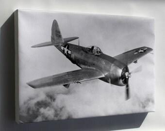 Canvas 24x36; Republic P-47N Thunderbolt