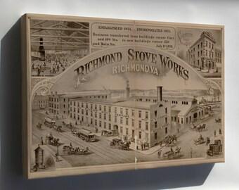 Canvas 24x36; Richmond Stove Works Virginia 1877