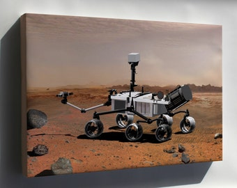 Canvas 24x36; Mars Science Laboratory Curiosity Rover