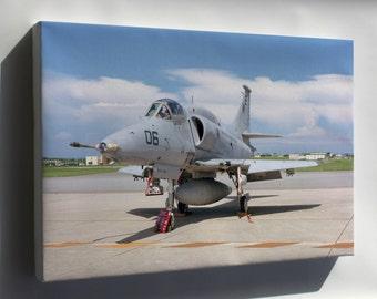 Canvas 24x36; A-4M Skyhawk A-4 Attack Squadron Vma-214 Blacksheep