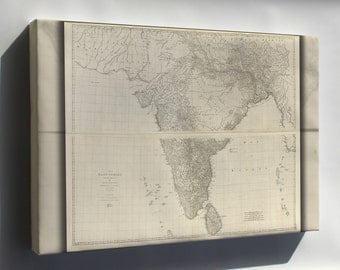 Canvas 16x24; Road Map Of India 1768