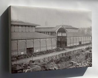Canvas 16x24; Les Halles, Central Market Paris, France 1867 P2