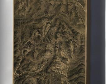 Canvas 16x24; Map Cripple Creek Mining District Colorado 1895