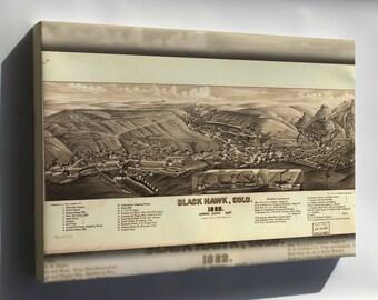 Canvas 16x24; Map Of Black Hawk, Colorado 1882