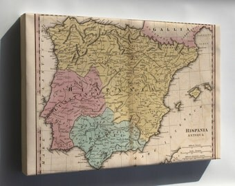 Canvas 16x24; Map Of Spain In Antiquity 1826