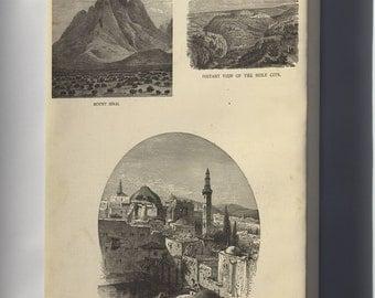 Canvas 16x24; View Of Mount Sinai Holy Sepulchre Jerusalem 1881