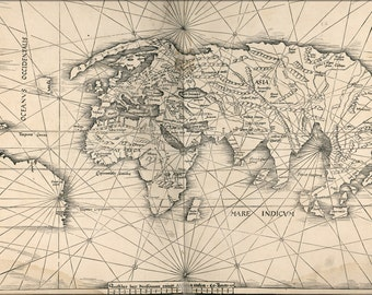 16x24 Poster; Map Of The World 1513