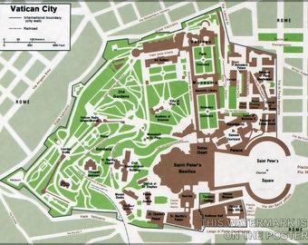 16x24 Poster; Map Of Vatican City